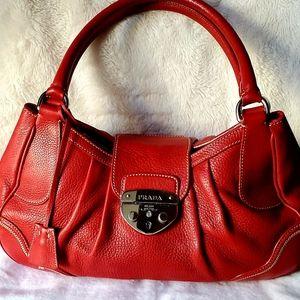 """Authentic Red Prada Purse """"Rare Bag"""""""
